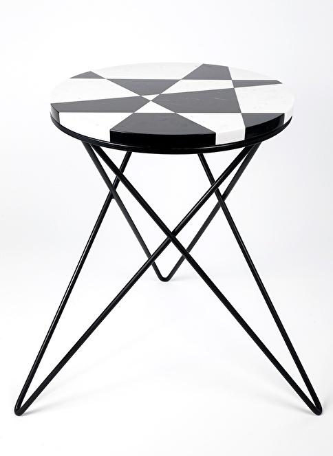 3Wdesign El Yapımı Mermer Sehpa Siyah